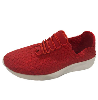Women's Textile Lace Up Woven Step In Shoe