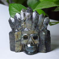 Wholesale Labradorite Crystal Skull Carving