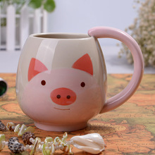 Best selling product frog mug, panda mug,pig mug creative animal coffee mug cup