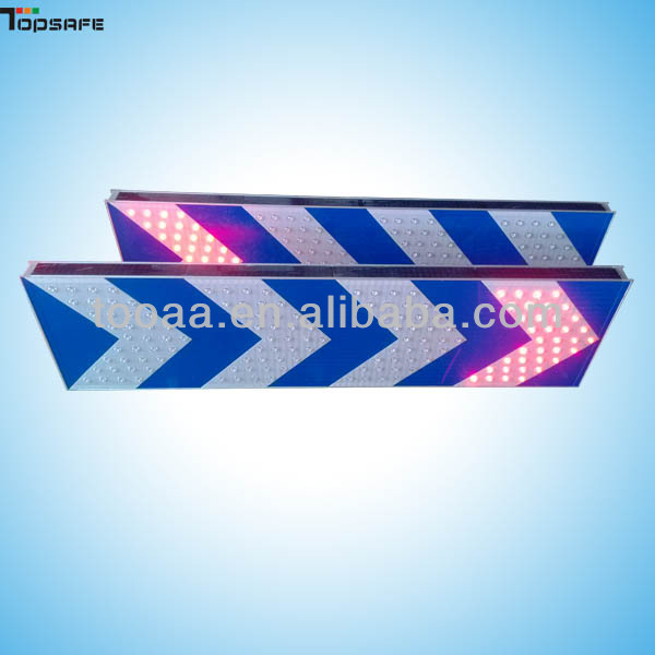 Blue Background Direction Aluminum Board led solar Arrow traffic signs