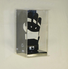 Wall mount clear acrylic single batting glove display case box