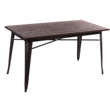 restaurant furniture wood rectangle dining table fashion design