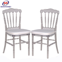 Hot Sale Clear Resin Napoleon Chair For Wedding