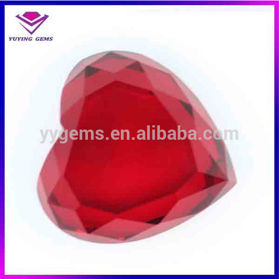 50mm High Quality Red Glass Heart Crystal House Decoration