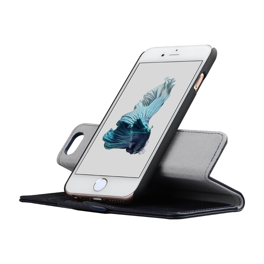 C&T 2 in 1 Premium Leather Detachable Magnetic Car Mount Phone Holder Compatible Cover Case For Samsung Galaxy S7 edge
