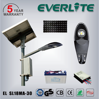TUV GS CB approved high quality battery and panel ip65 5 years warranty solar led street light 60w