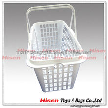 rectangle plastic storage basket with handle