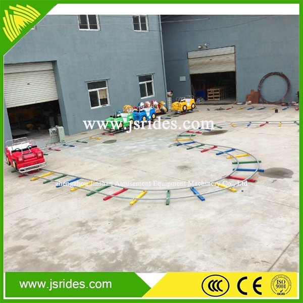 Kids playground game B shape track train