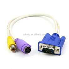 wholesale splitter vga to rca S-Video AV Adapter for rca output to vga input vga to rca converter
