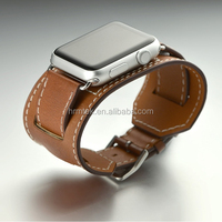 New Arrival Genuine Luxury Leather Cuff Watch Band for Apple Watch