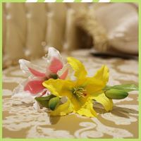 Low-Cost advanced decorated hotel silk lillies