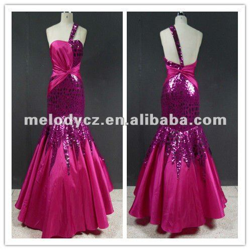 Showy fushia famous designer buns paillette wedding dresses in karachi MD695
