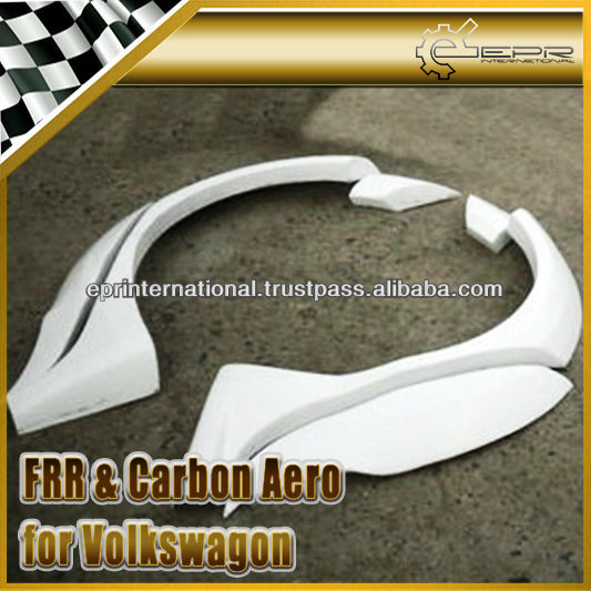 For Volkswagon Polo 6 CTCC Racing Style Fiber Glass Rear Fender Flare
