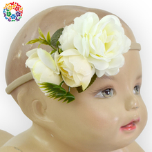 Wholesale Infant Girls Beautiful Flower Headband Affordable Promotion Festival Hair Accessories Headband
