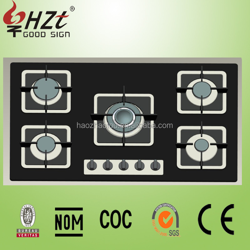 2017 Newly Design Battery operated kitchen appliances gas hobs with glass top