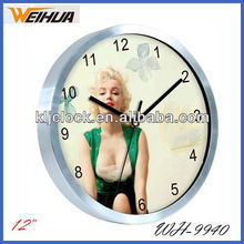 Hotsale metal wall clock with Aluminium frame
