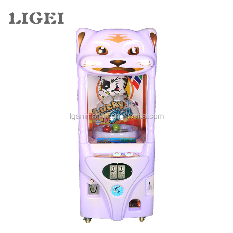 Ligei animation coin operated Lucky Ball prize lottery game vending machine sale in china
