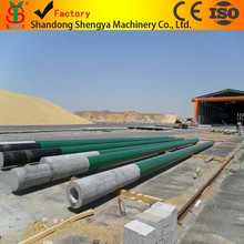 the production of up to 400 poles capacity electrical cylindrical poles factory in sudan for the national electrical grid .