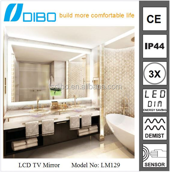3500K-6000K Pure White Real Estate LED Silver Bathroom Magic Mirror Glass