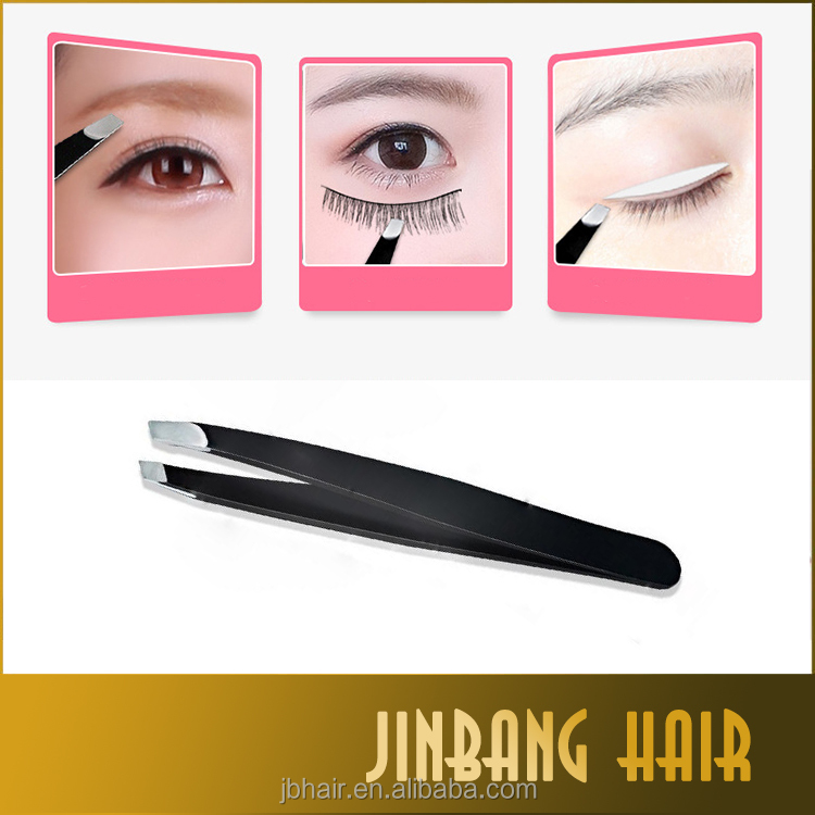 9.5 cm black pink tweezers for strip lashes eyebrow prime quality tweezers false lashes