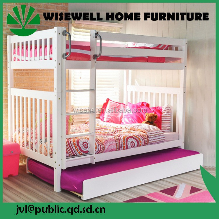 ( WJZ-B23 ) solid wood kids bunk bed with desk