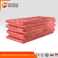 firefroof and waterproof glass wool product 25mm colorful fiberglass wool insulation sheet price