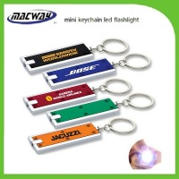 Factory Cheap Custom LED Light Plastic LED Keychain For Promotion Gift