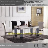 Fashion unique oak wood dining table and chair