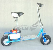 CE Approved Foldable 49cc 50cc gas scooter stand up with Steel Board