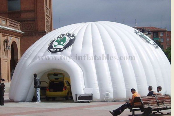 Super quality commercial lighted inflatable dome tent