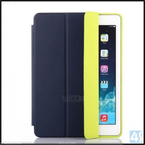 Nice various colors Stand fashionable stylish folio contrast color case for iPad air
