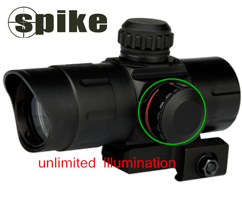 SPIKE Tactical Red dot sight /Compact Red dot Scope Quick Detach Mount/Red dot