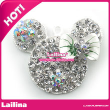 wholesale new arrival crystal shiny pretty mouse head Rhinestone pendant