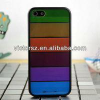 For iphone 5 rainbow case,hybrid case 2 in 1 cover rainbow fashion design