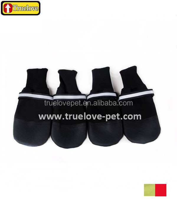 Reflective comfortable Waterproof anti-slip snow pu dog boots