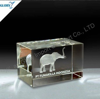 Crystal Small Animal Figurine 3D Laser
