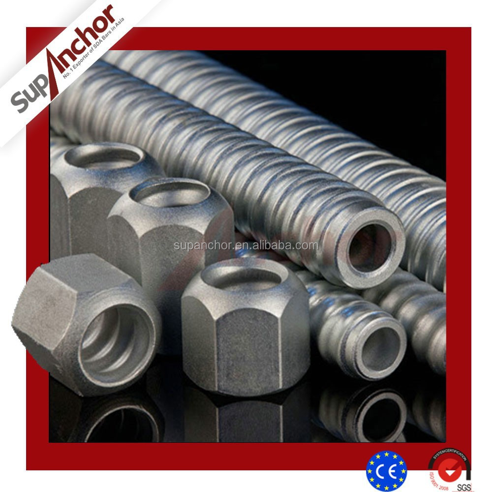 SupAnchor tunnel construct steel roof support high quality SDA hollow drilling rock anchor bolts & reinforcing steel bars