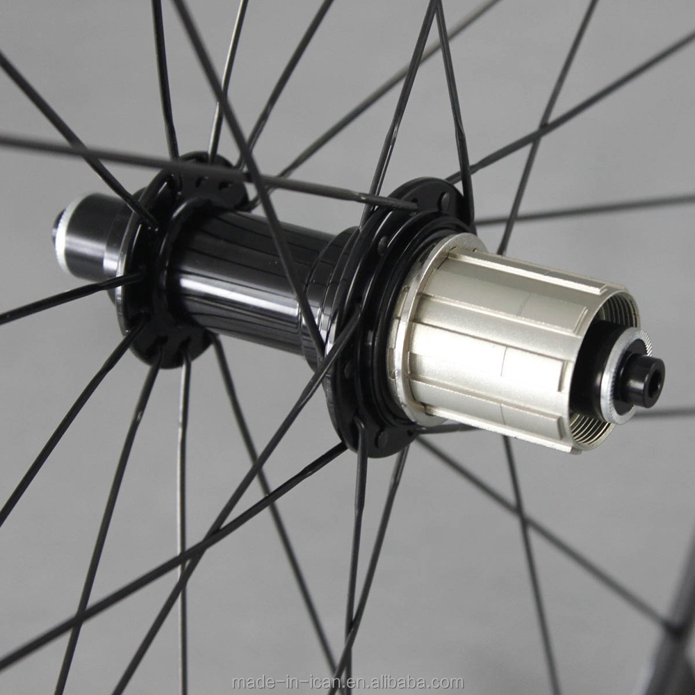 ICANBikes T700 700C Carbon fiber 20/24holes clincher super light ud matte alloy hub cn spokes carbon wheels for road bicycle