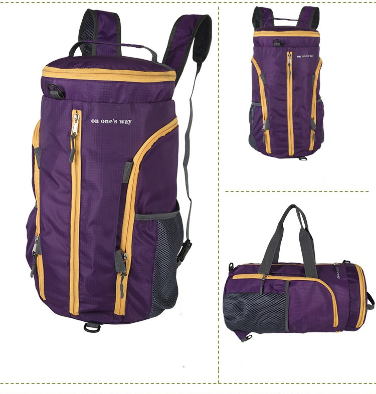 Trendy high quality canvas roll top backpack carry handbag outdoor sports&travel bag