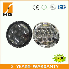 cheap 7 round headlight with DRL 75w 7'' headlight for Jeep Harley HG-805