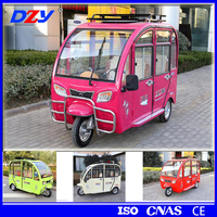 Hot sale electric passenger tricycle pedicab rickshaws tricycle with anti-rolling tech