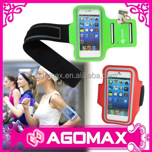 High quality portable running velcro phone armband case
