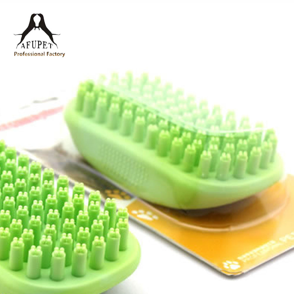 bath massage plastic pet brush for wholesale