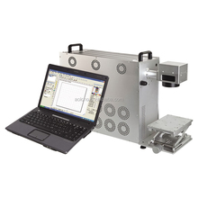 AOL portable fiber laser marking machine for jewellery / macbook/iphone cover / kitchen ware logo printing