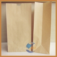 Bottom price unique brown ribbed kraft paper bag