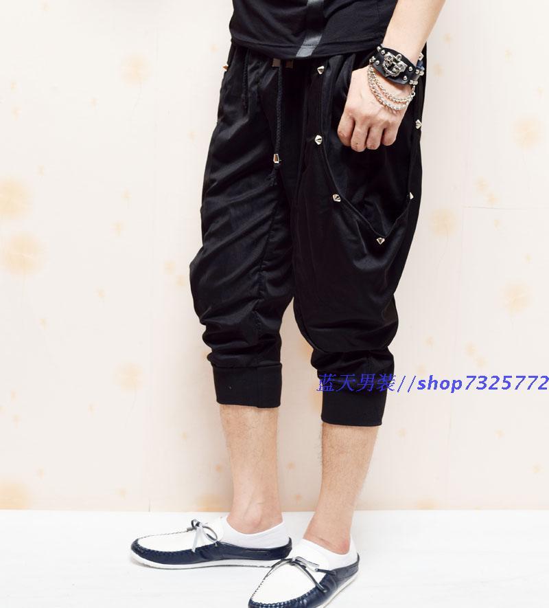ZXFHZS Mens Jeans Fashion Embroidery Baggy Jeans Hip Hop Denim Trousers