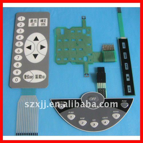 remote control/timer membrane switch (SGS) panel
