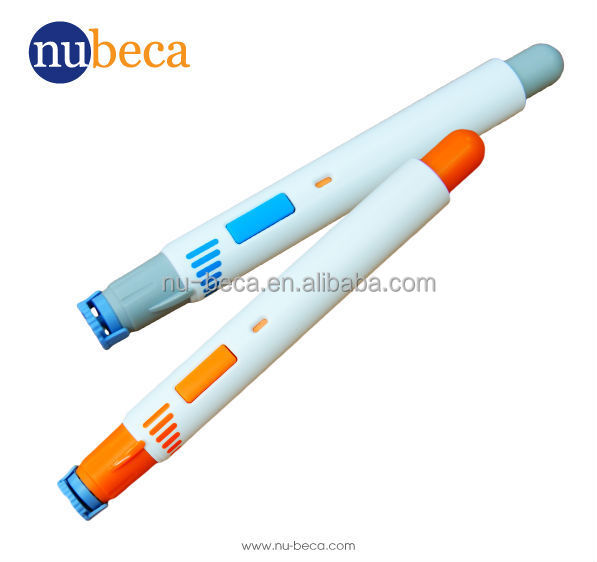 Safety blood lancet pen type blood lancing device