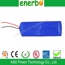 783448 li-ion battery 7.4V 5.2Ah Lipo Rechargeable Battery