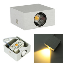 1W 85-265V AC Mini LEDs Modern Simple Style Wall mounted cube Aluminum LED Wall Light Lamp energy-efficient High bright